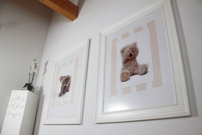 adding some picture frames to babies' room - looks like coja