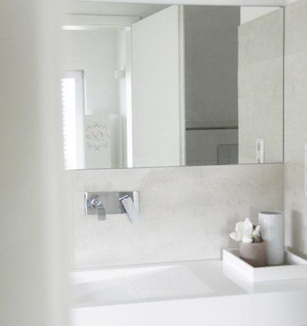 Lässiger Minimalismus im Badezimmer