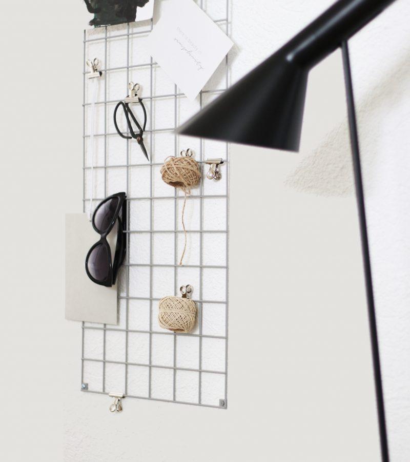 Design trifft Funktionalität | Meine neue Gitterpinnwand