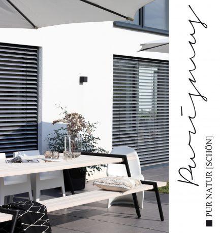 Naturschöner Purismus | Stilvolles Outdoor-Esszimmer für mehr Genuss im Freien