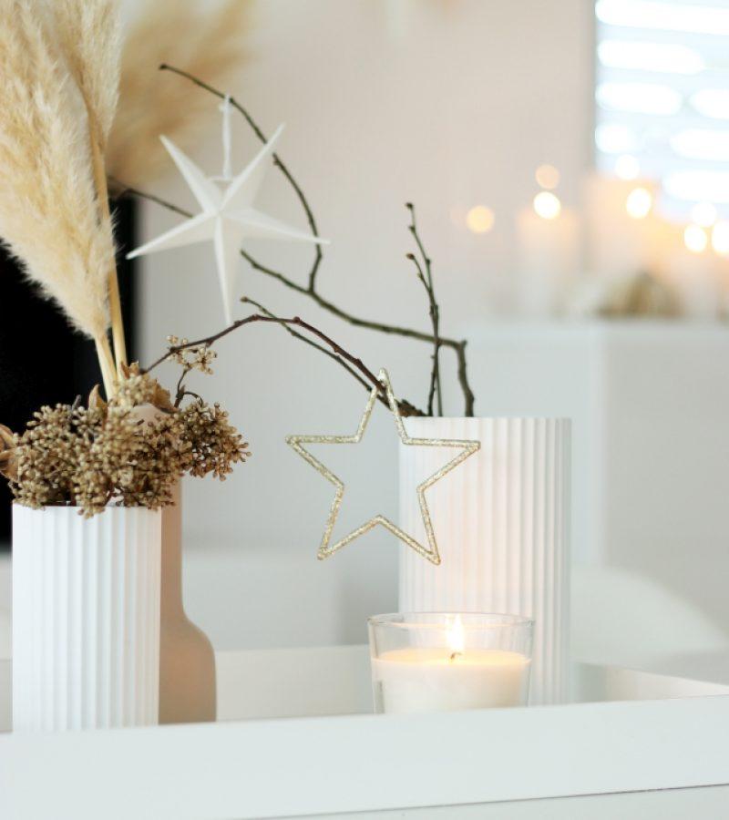 Weihnachtliches Esszimmer Update |  Stilvolle Kerzensäule
