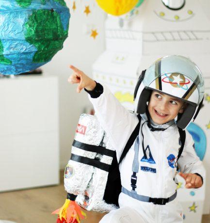 Wir heben ab   Tom's Astronautenparty zum 6. Geburtstag