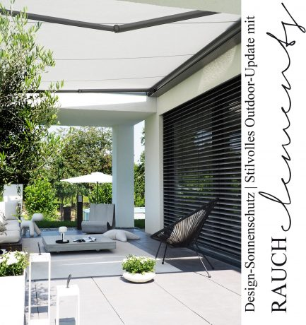 Design-Sonnenschutz | Stilvolles Outdoor-Update mit den Kassettenmarkisen von RAUCH elements